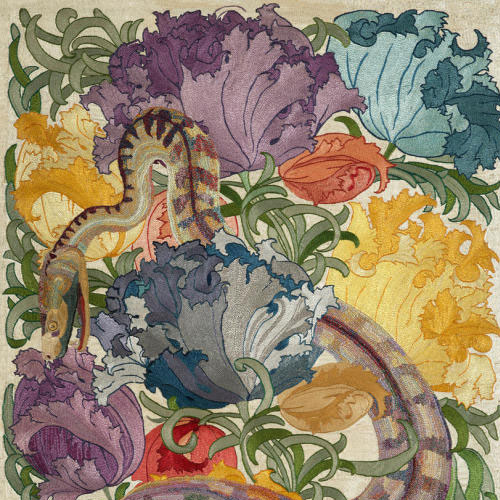 Charles Francis Annesley Voysey, Snake Amongst Flowers, ca. 1895