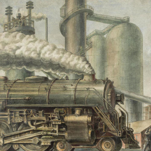 Reginald Marsh, The Locomotive, 1935