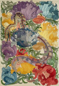 Charles Francis Annesley Voysey - Snake Amongst Flowers, ca. 1895