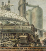 Reginald Marsh - The Locomotive, 1935