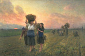 Jules Breton - The Last Gleaning, 1896