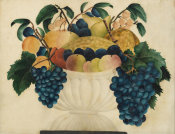 unknown American artist - Still Life with Fruit Theorem Painting, ca. 1830