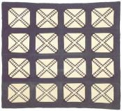 unknown American - Wild Goose Chase Quilt, ca. 1880