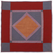 unknown American - Diamond Amish Quilt, ca. 1896