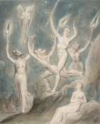 William Blake - Illustration 1 to Milton's