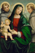 Francesco Francia - Madonna and Child with Saint Anthony and Saint Francis, 1490 - ca. 1505