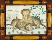 unknown American artist - Puppies, 1846-1847