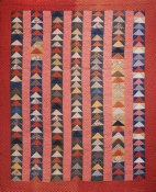 unknown American - Geese in Flight Quilt, ca. 1880-1890