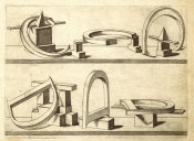 Hans Lencker - Perspectiva Literaria, plate 3: letters C and D, 1567