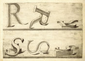 Hans Lencker - Perspectiva Literaria, plate 10: letters R and S, 1567