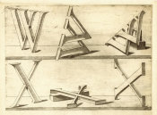 Hans Lencker - Perspectiva Literaria, plate 12: letters Y and Z, 1567