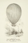 H. Harrison - The Ascent of the Great Montgolfier Balloon, from the Royal Surrey Zoological Gardens, 1838