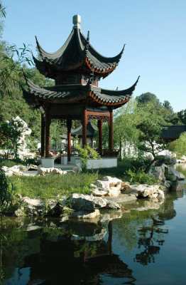 Lisa Blackburn - Chinese Garden, Pavilion of the Three Friends, Huntington Botanical Gardens