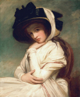 George Romney - Emma Hart, later Lady Hamilton, in a Straw Hat, ca.1782-1794