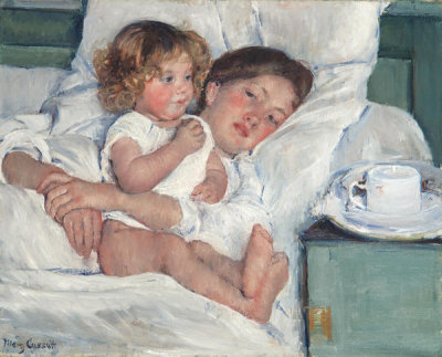 Mary Cassatt - Breakfast in Bed, 1897