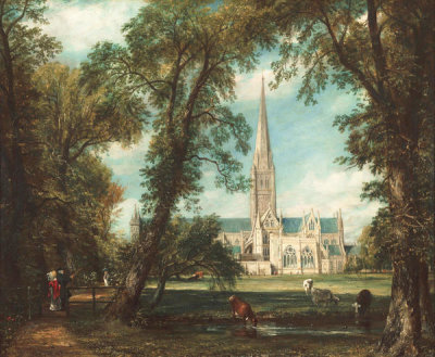 John Constable - Salisbury Cathedral from the Bishop's Grounds, 1823-1826