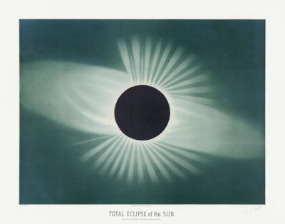 Etienne Léopold Trouvelot - Total eclipse of the sun, 1881