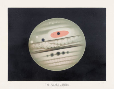 Etienne Léopold Trouvelot - The planet Jupiter, 1881