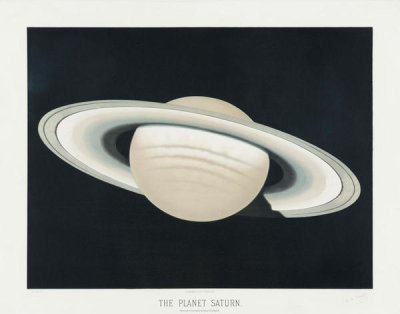 Etienne Léopold Trouvelot - The planet Saturn, 1881