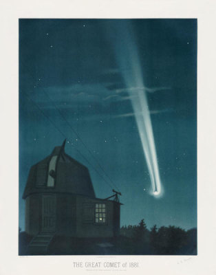 Etienne Léopold Trouvelot - The great comet of 1881, 1881