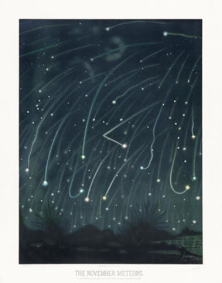 Etienne Léopold Trouvelot - The November Meteors, 1881