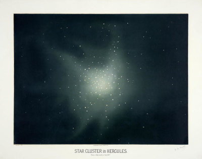 Etienne Léopold Trouvelot - Star clusters in Hercules, 1881