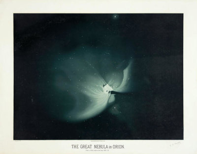 Etienne Léopold Trouvelot - The great nebula in Orion, 1881