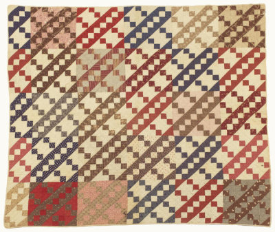 unknown American - Jacob's Ladder Pattern Quilt, n.d.