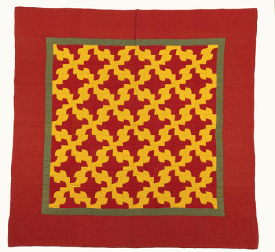 unknown American - Drunkard's Path Quilt, ca. 1880 - 1890