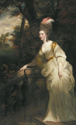 Joshua Reynolds - Georgiana (Spencer) Cavendish, Duchess of Devonshire, ca.1775-76