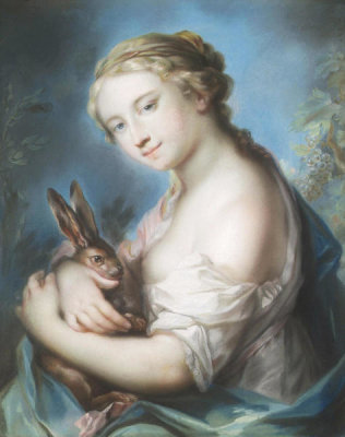 William Hoare - Girl with a Rabbit, n.d.