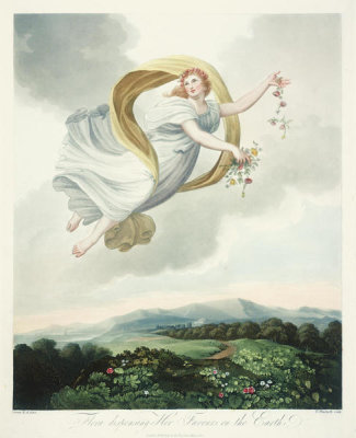 Robert John Thornton - Flora Dispensing her Favours on the Earth, 1803