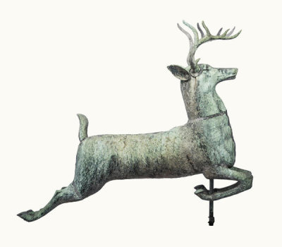 unknown American - Ten-point Leaping Stag Weather Vane, ca. 1880