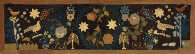 unknown American - Pictorial Hearth Rug, 1824