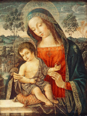 Bernardino Pinturicchio - Madonna and Child, late 15th Century