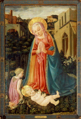 Master of the Castello Nativity - Madonna and Child with Saint John, mid 15th-late 15th Century