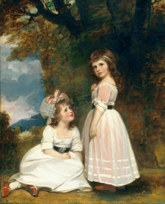 George Romney - Margaret Beckford, later Margaret Orde, and Susan Euphemia Beckford, later Duchess of Hamilton: The Beckford children, ca.1789-1791