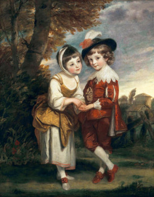 Joshua Reynolds - Lord Henry Spencer and Lady Charlotte Spencer, later Charlotte Nares: The Young Fortune Tellers, ca.1774-1775
