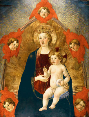 Cosimo Rosselli - Madonna and Child in Glory, ca. 1475