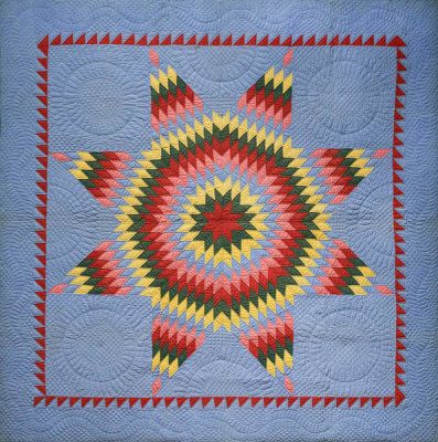 unknown American - Lone Star of Bethlehem Quilt, 19th or 20th century