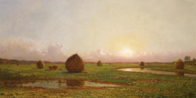 Martin Johnson Heade - Haystacks, ca. 1876-1882