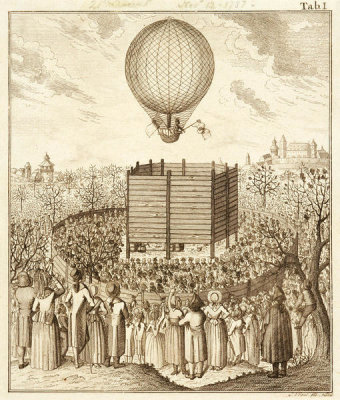 G. Vogel - View of Blanchard's Balloon Ascending, 1787