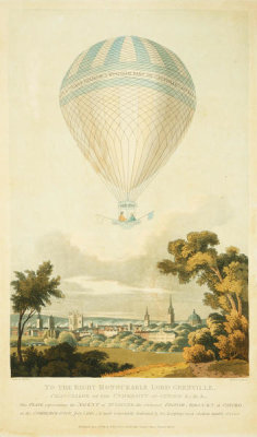 E.M. Jones, with R. Havell - The Ascent of Mr. Sadler, the Celebrated British Aeronaut, at Oxford, July 7, 1810