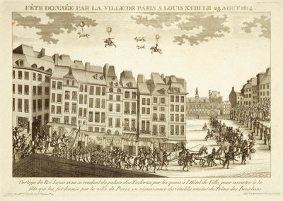 unknown French engraver - Fête donnée par la ville de Paris à Louis XVIII le 29 août 1814, 1814