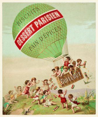 unknown French graphic artist - Biscuits dessert parisien pain d'épices : Guillout