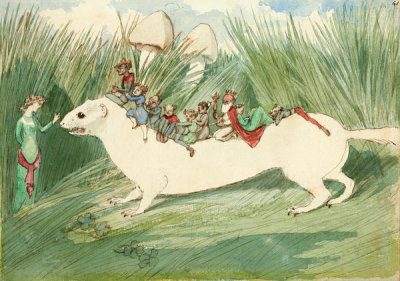 Charles Altamont Doyle - The Ermine Riders, ca. 1885–91