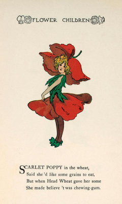 M. T. Ross - Flower Children: Scarlet Poppy, 1910